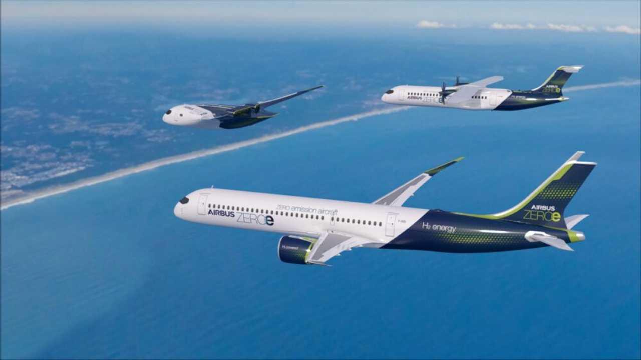 Airbus, tres conceptos de aviones de hidrógeno