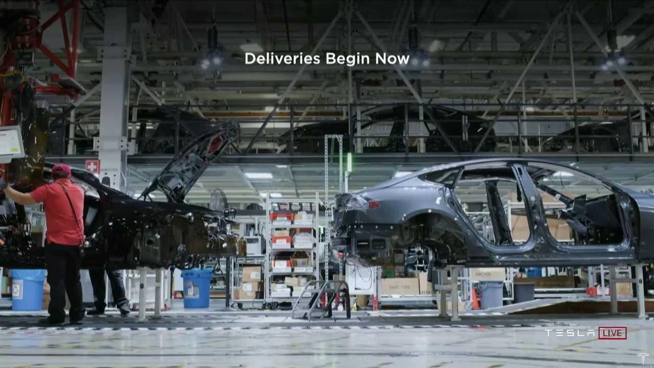 Producción de Tesla Model S Plaid
