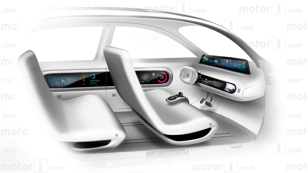 Representación de Apple Car de Motor1