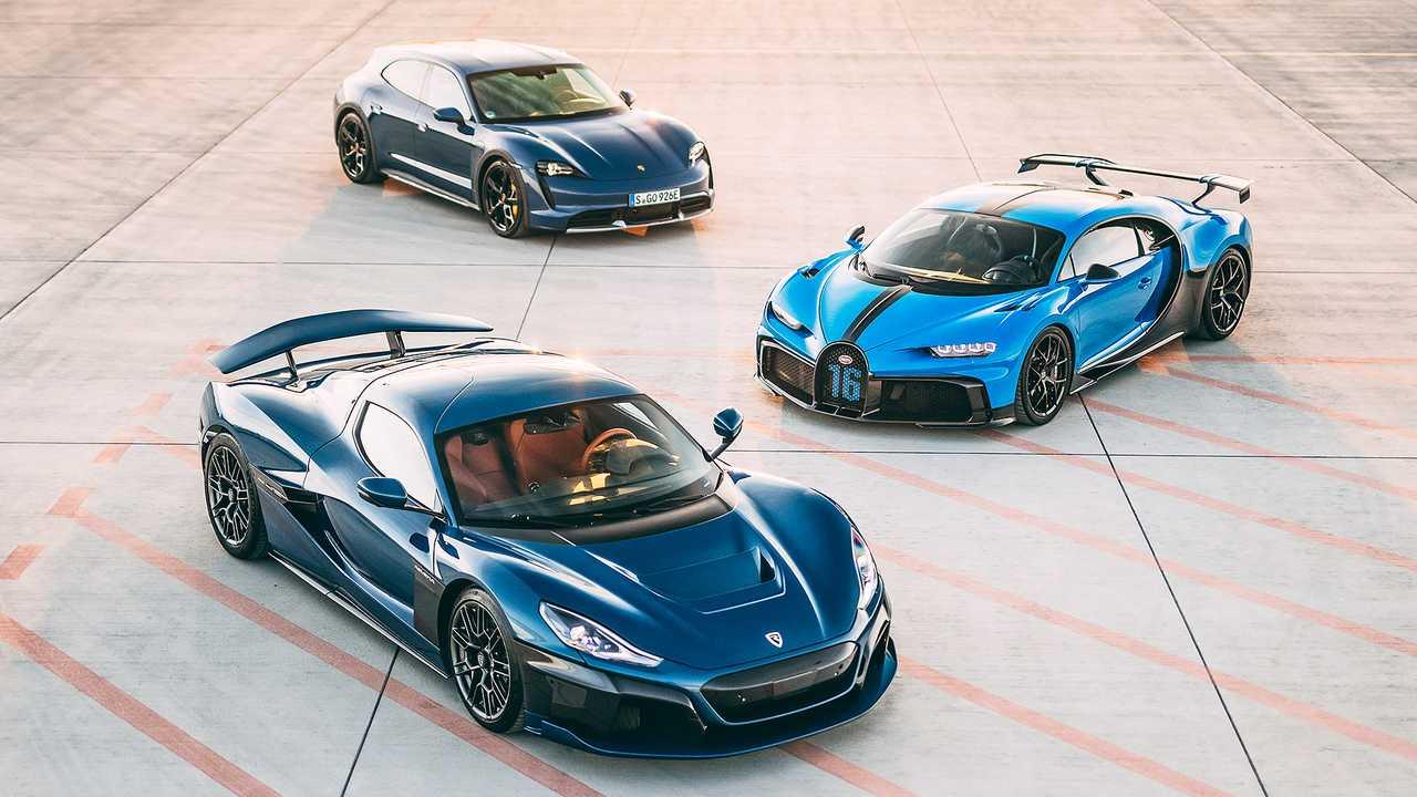 Rimac Nevera, Bugatti Chiron y Porsche Taycan Cross Turismo