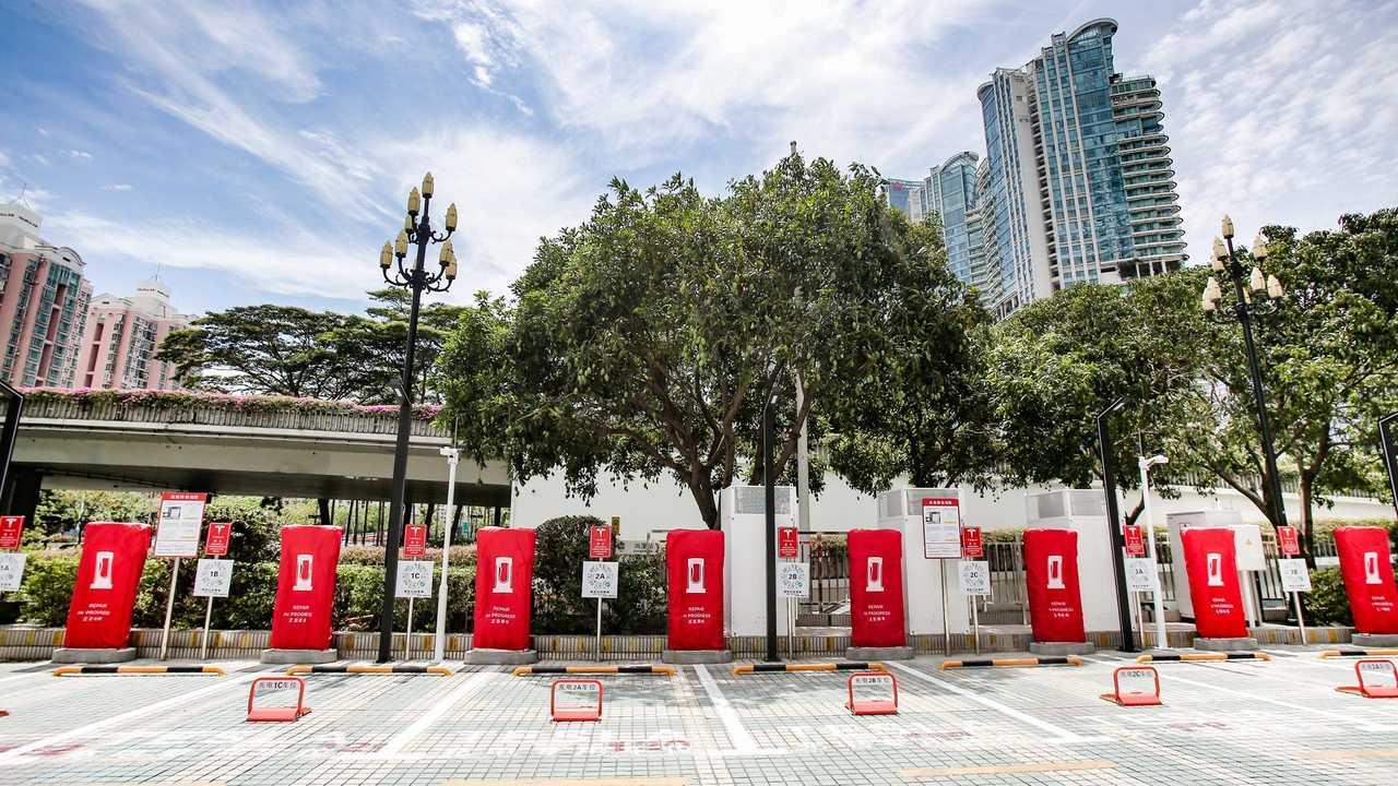 Tesla Supercharger en Shenzhen